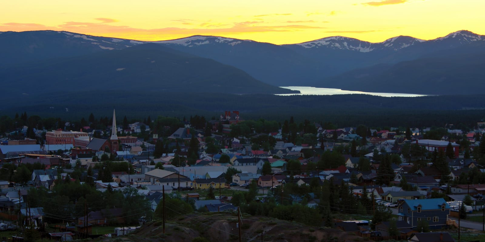 Leadville CO Sunset Turquoise Lake