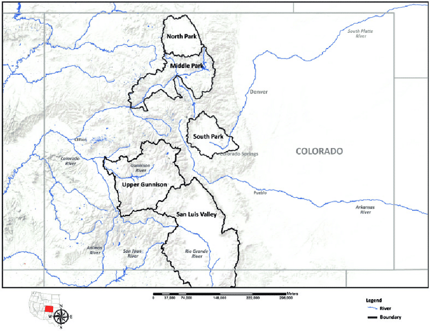 Colorado Basins and Parks Map