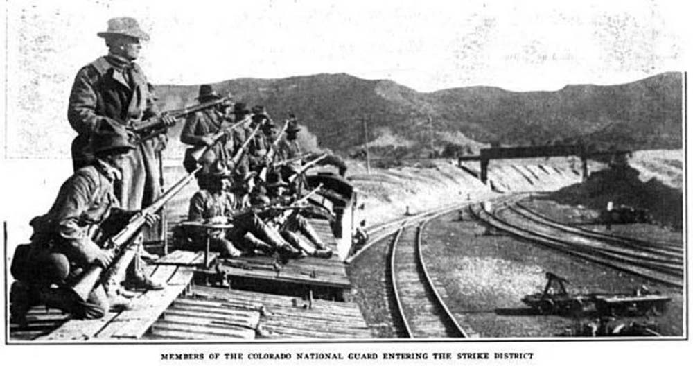 Colorado National Guard Entering Ludlow CO Strike Zone