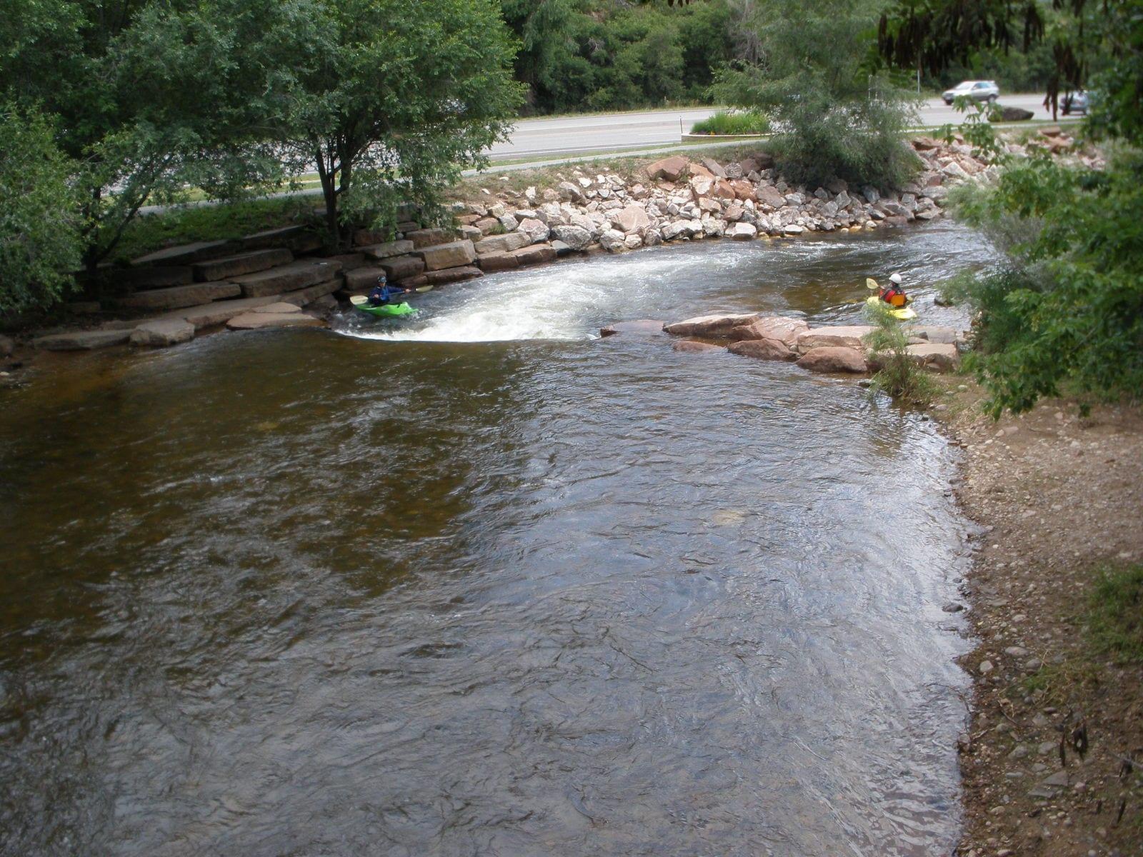 Saint Vrain Creek Kayakers Lyons CO