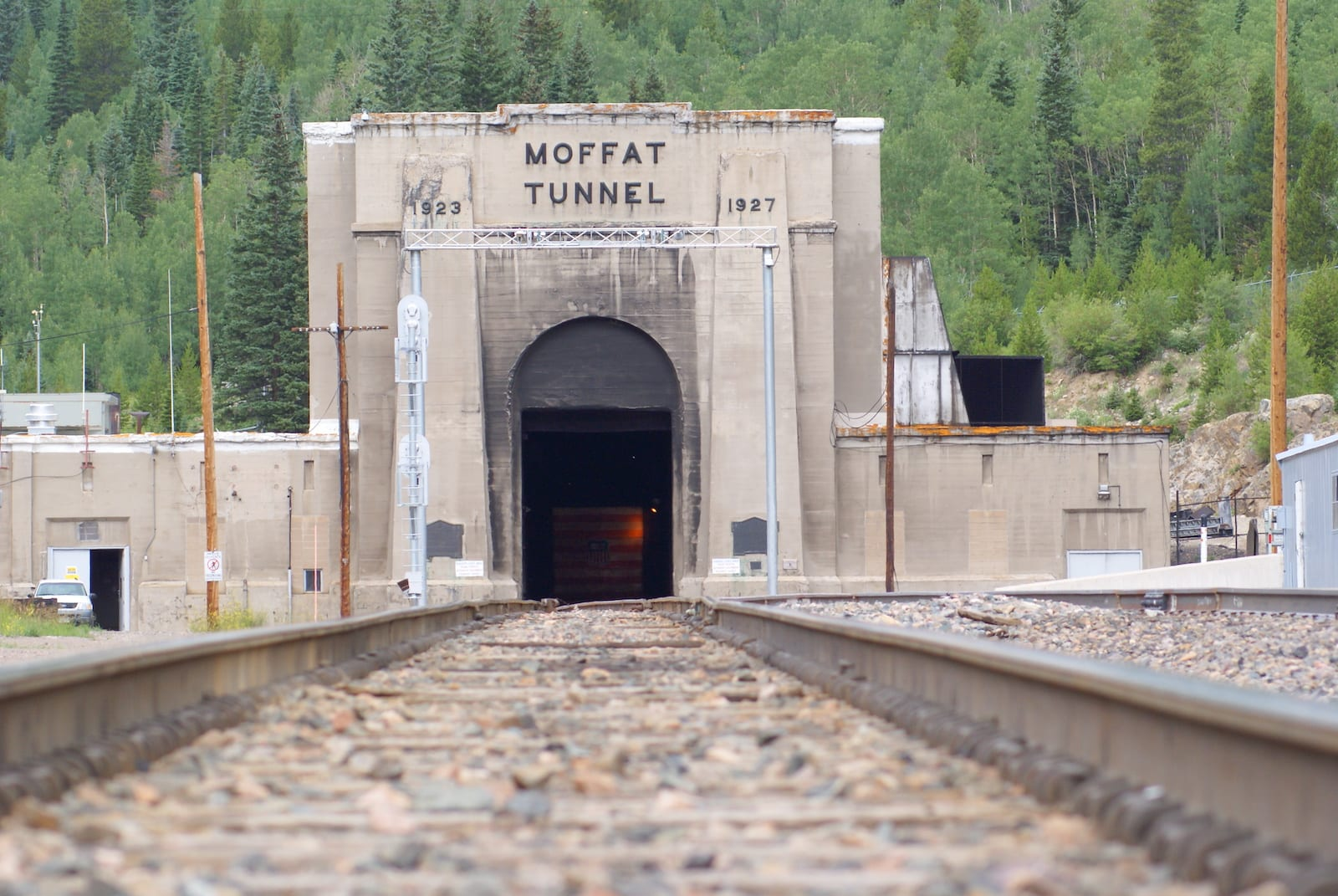 Moffat Tunnel East Entrance Railroad Tracks