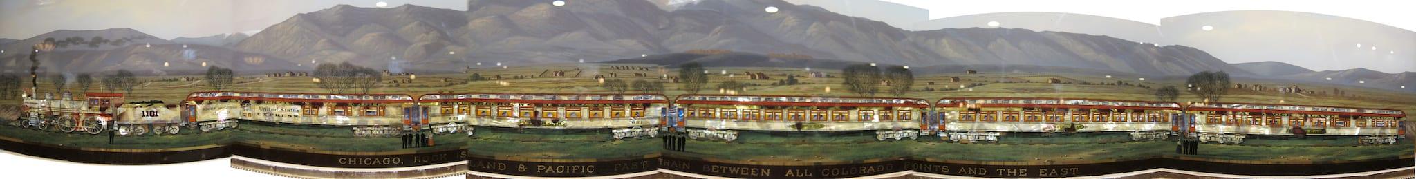 Mother of Pearl Railroad Advertisement Glenwood Springs Colorado