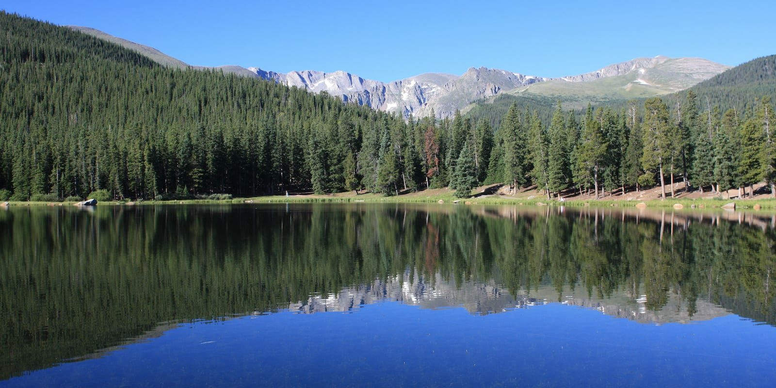Mount Evans behind Echo Lake near Idaho Springs CO