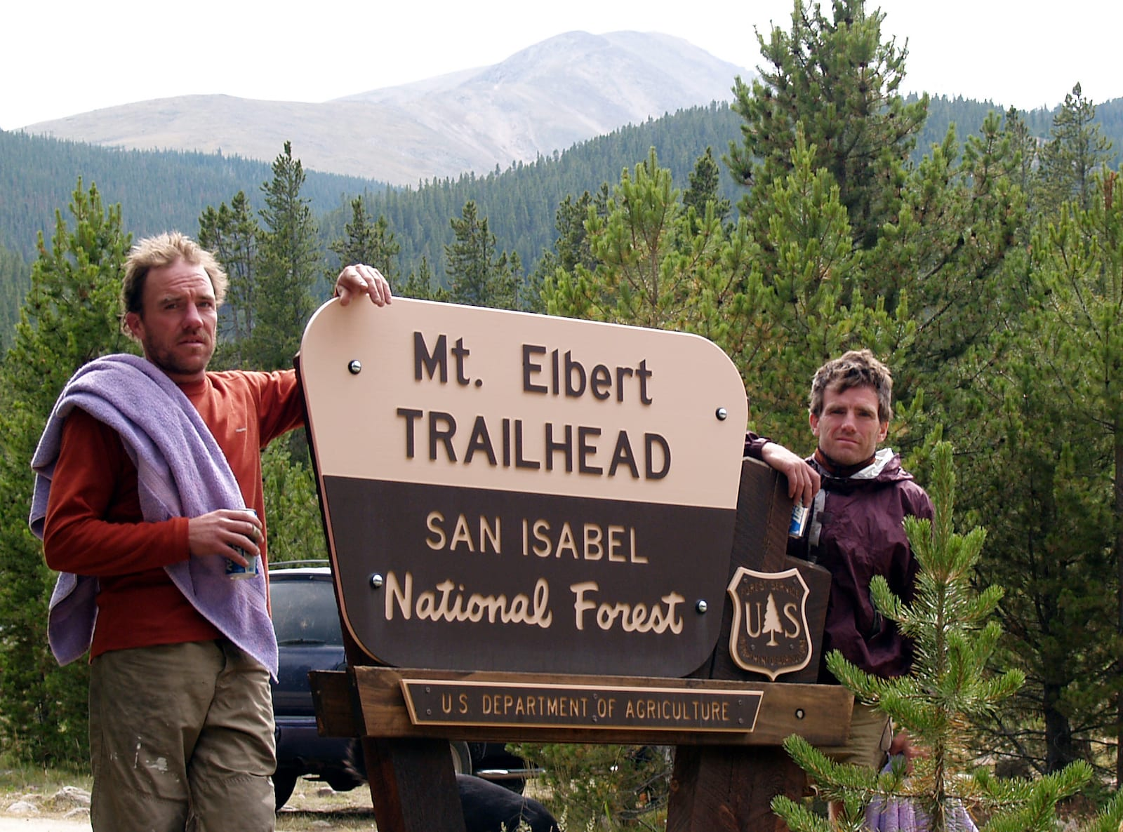 Mt. Elbert Trailhead in the San Isabel National Forest Sign