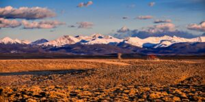 North Park Colorado Never Summer Mountain Range from Arapaho National Wildlife Refuge