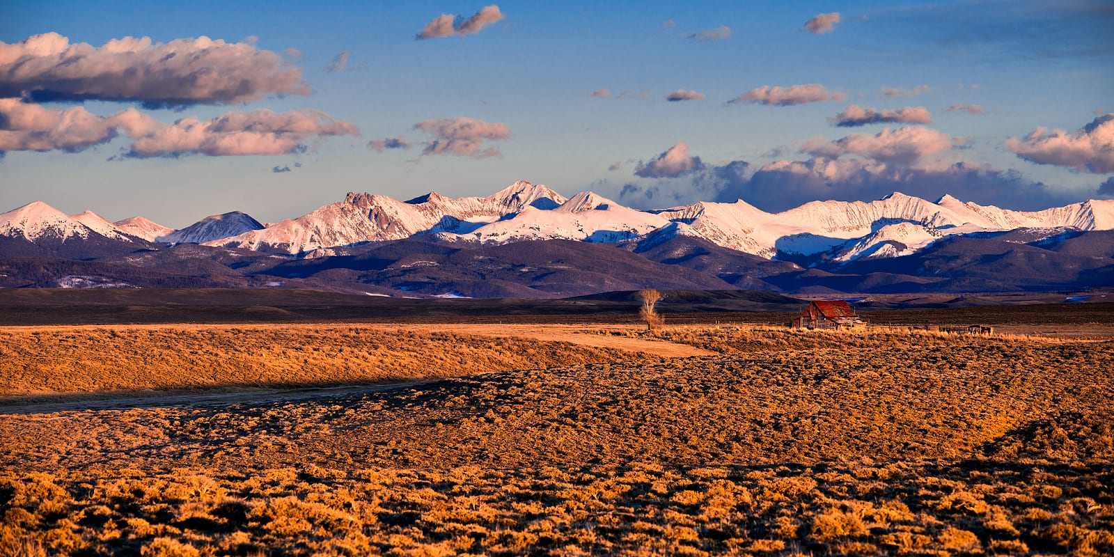 North Park Colorado Never Summer Mountain Range from Arapaho National Wildlife Refuge
