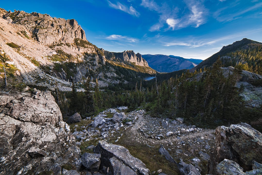 Overlooking Odessa Lake RMNP Estes Park CO Backpacking