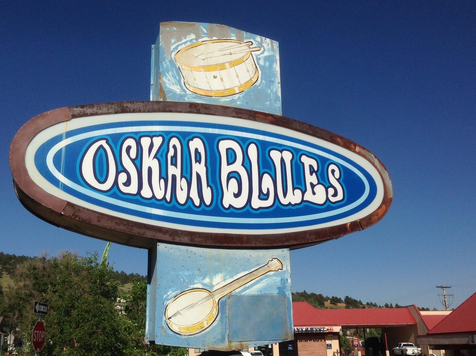 Oskar Blues Brew Pub Sign Lyons CO