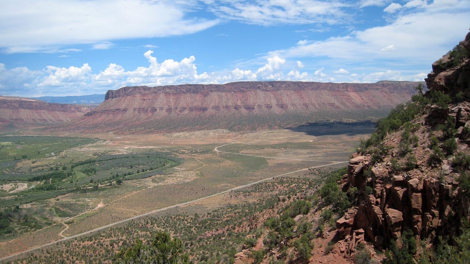 Paradox Valley Overlook Colorado Dolores River on left