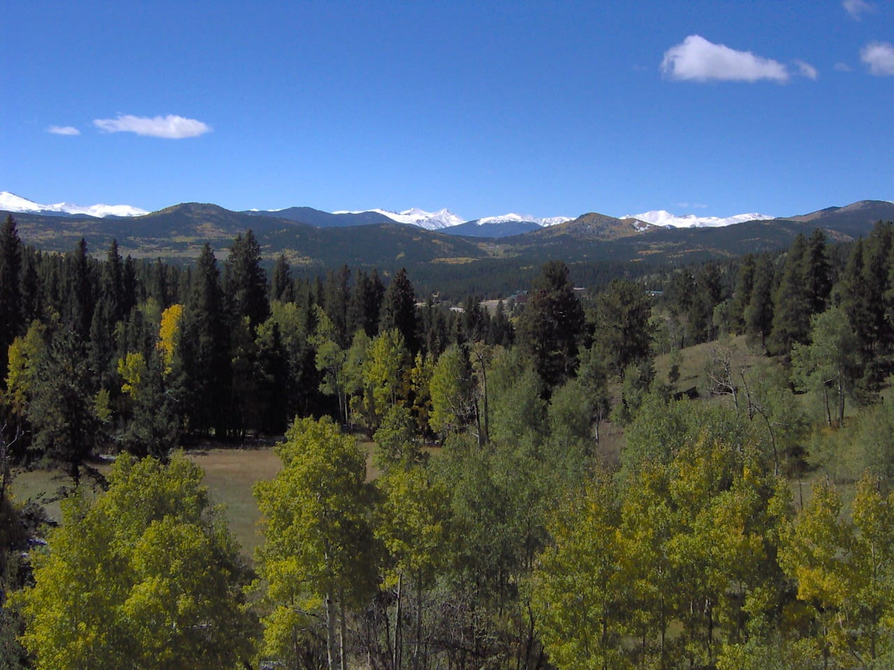 Peak to Peak National Scenic Byway Mountain Views Colorado
