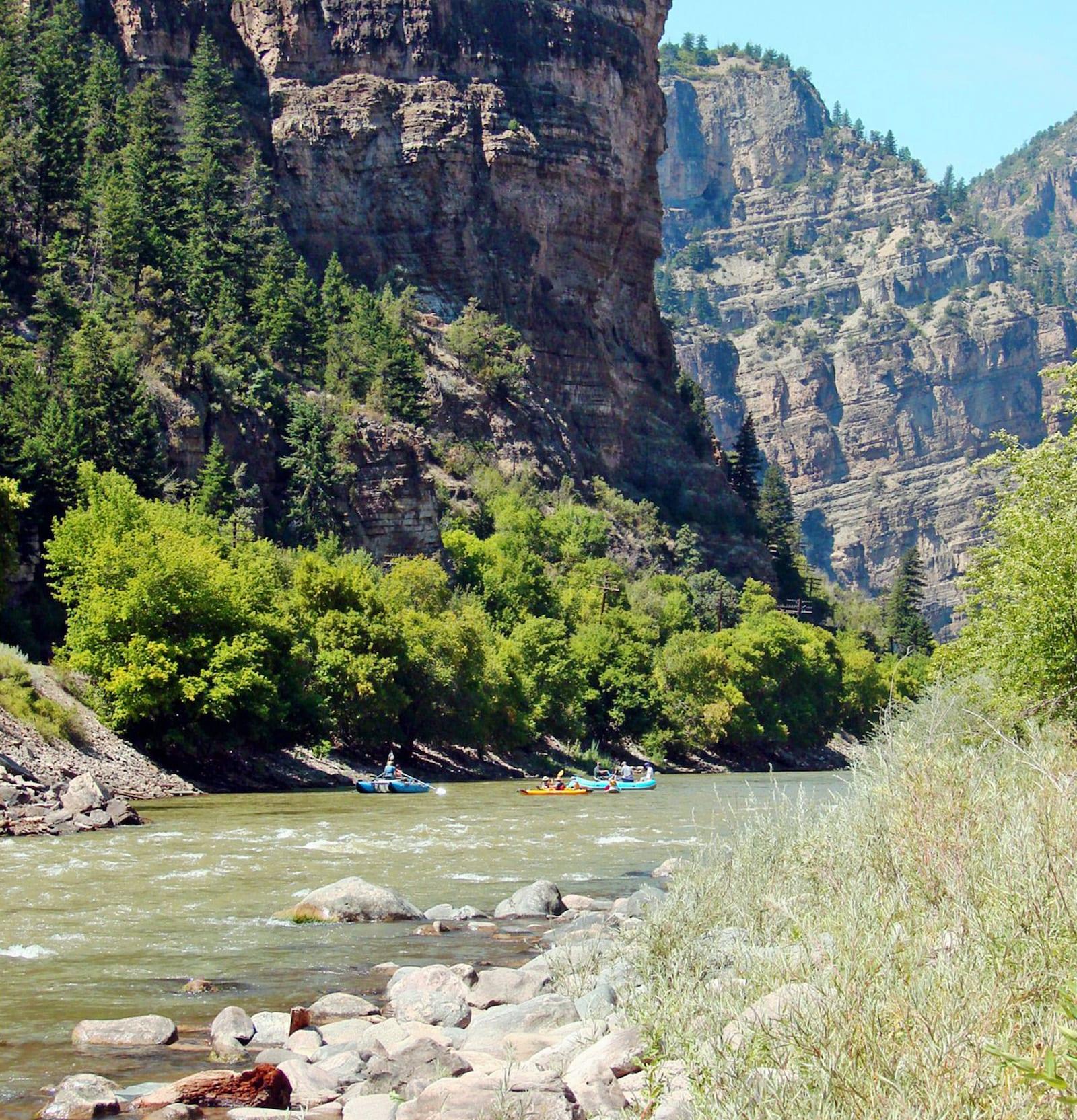 Rafting Upper Colorado River in Glenwood Canyon Colorado