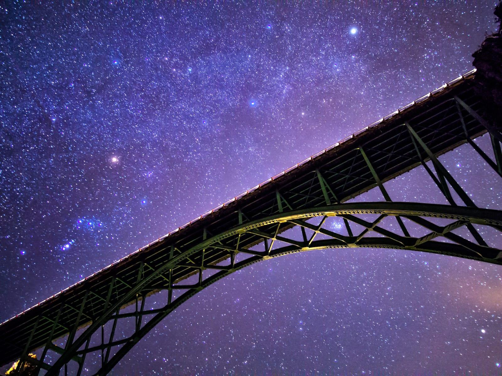 Red Cliff CO Bridge Night Sky Stars