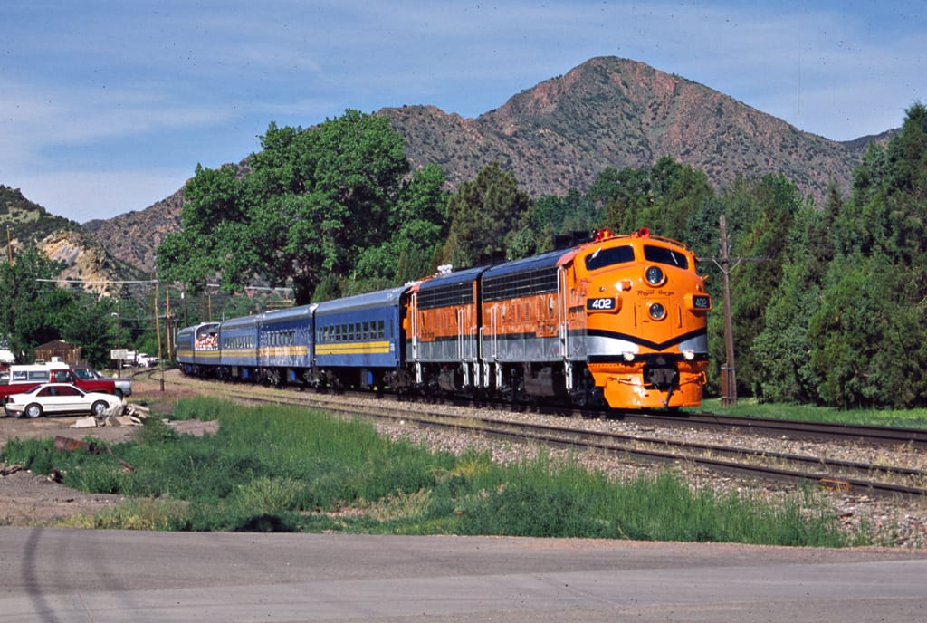 Royal Gorge Route Railroad Arriving in Canon City, CO
