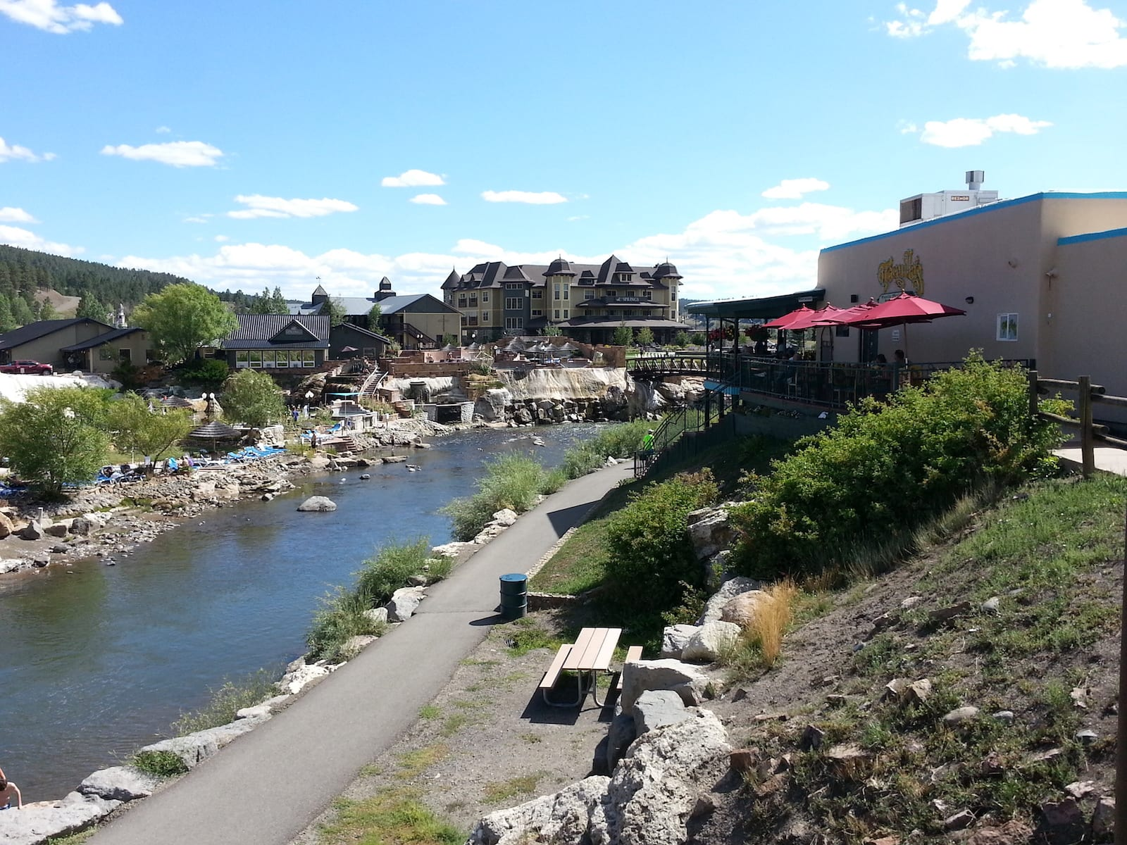 San Juan River Downtown Pagosa Springs CO