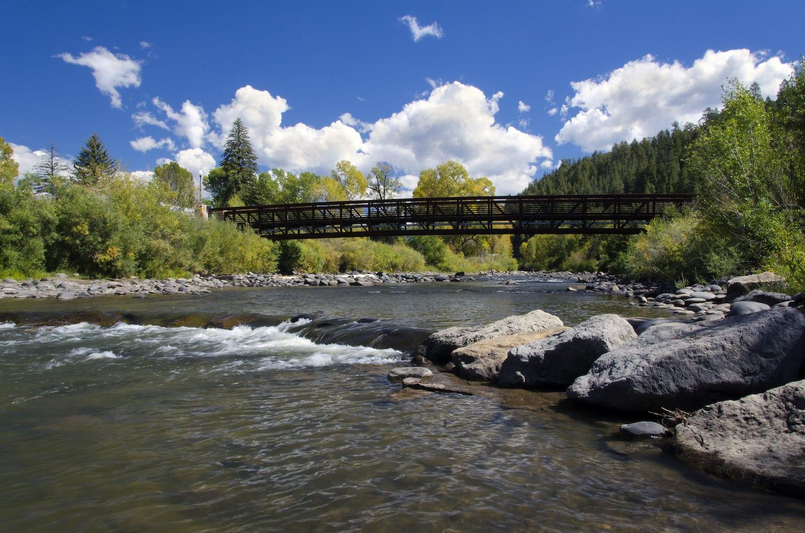 San Juan River Bridge Pagosa Springs CO