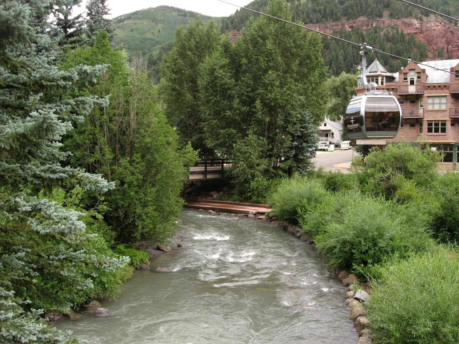 San Miguel River Telluride CO Gondola