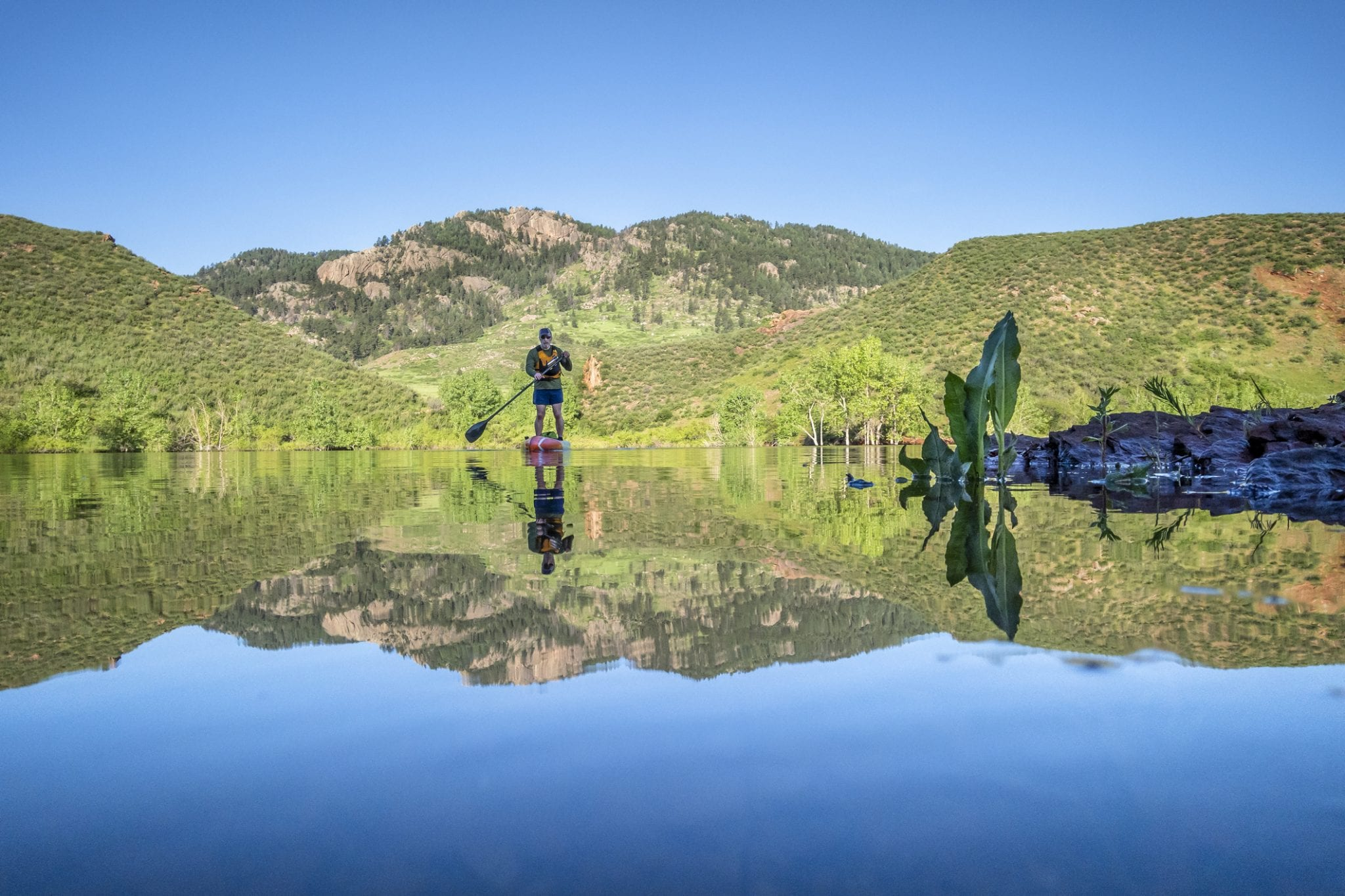 stand up paddleboarding horsetooth reservoir