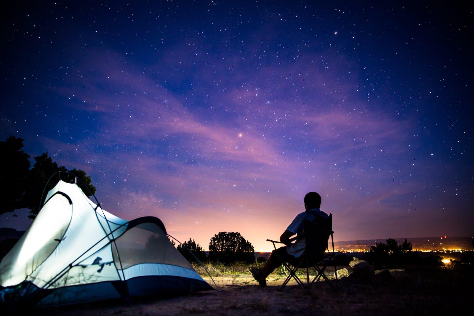 Tent Camping Fruita Colorado Stargazing