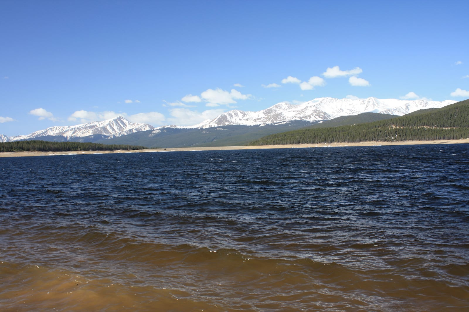 Turquoise Lake View of Mount Elbert and Mount Massive from by Tabor Campground Leadville CO