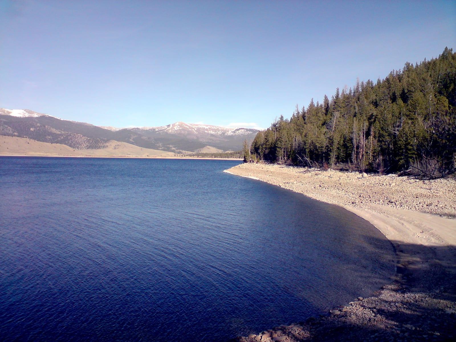 Twin Lakes Reservoir Beach Colorado