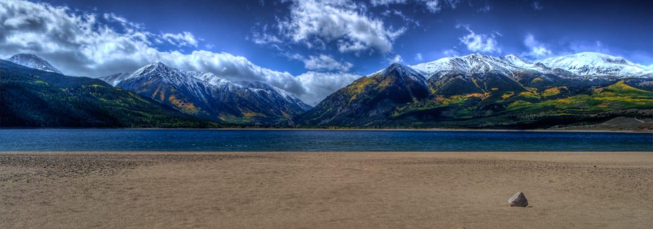 Twin Lakes Reservoir Panorama Colorado
