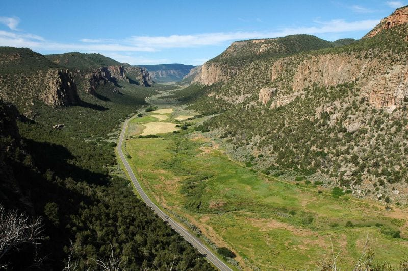 Unaweep Canyon from Uncompahgre Plateau near Gateway, CO