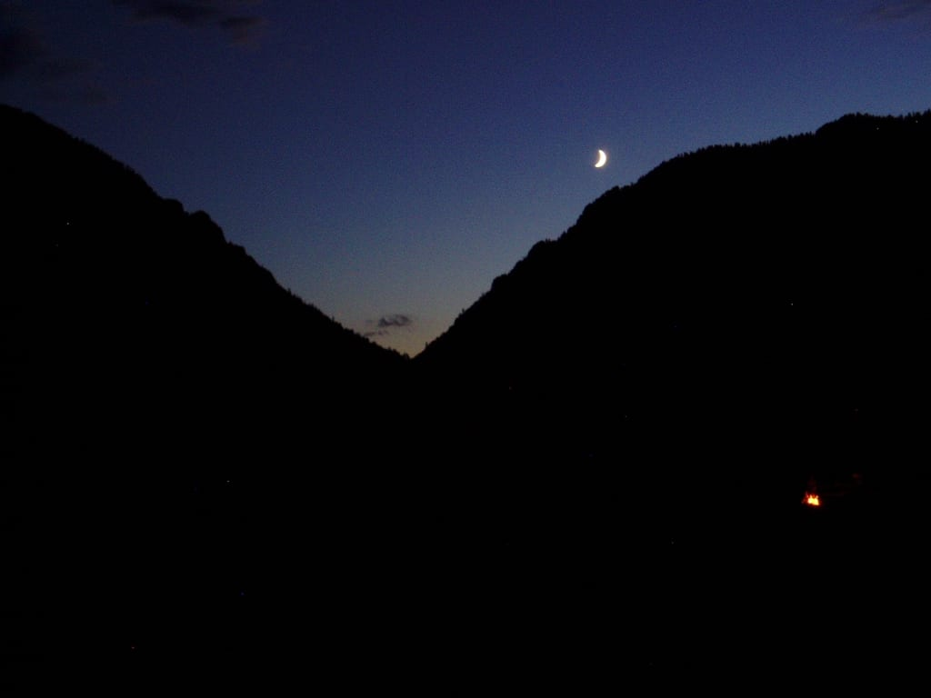 Upper Colorado River Moonlight and Campfire Radium CO