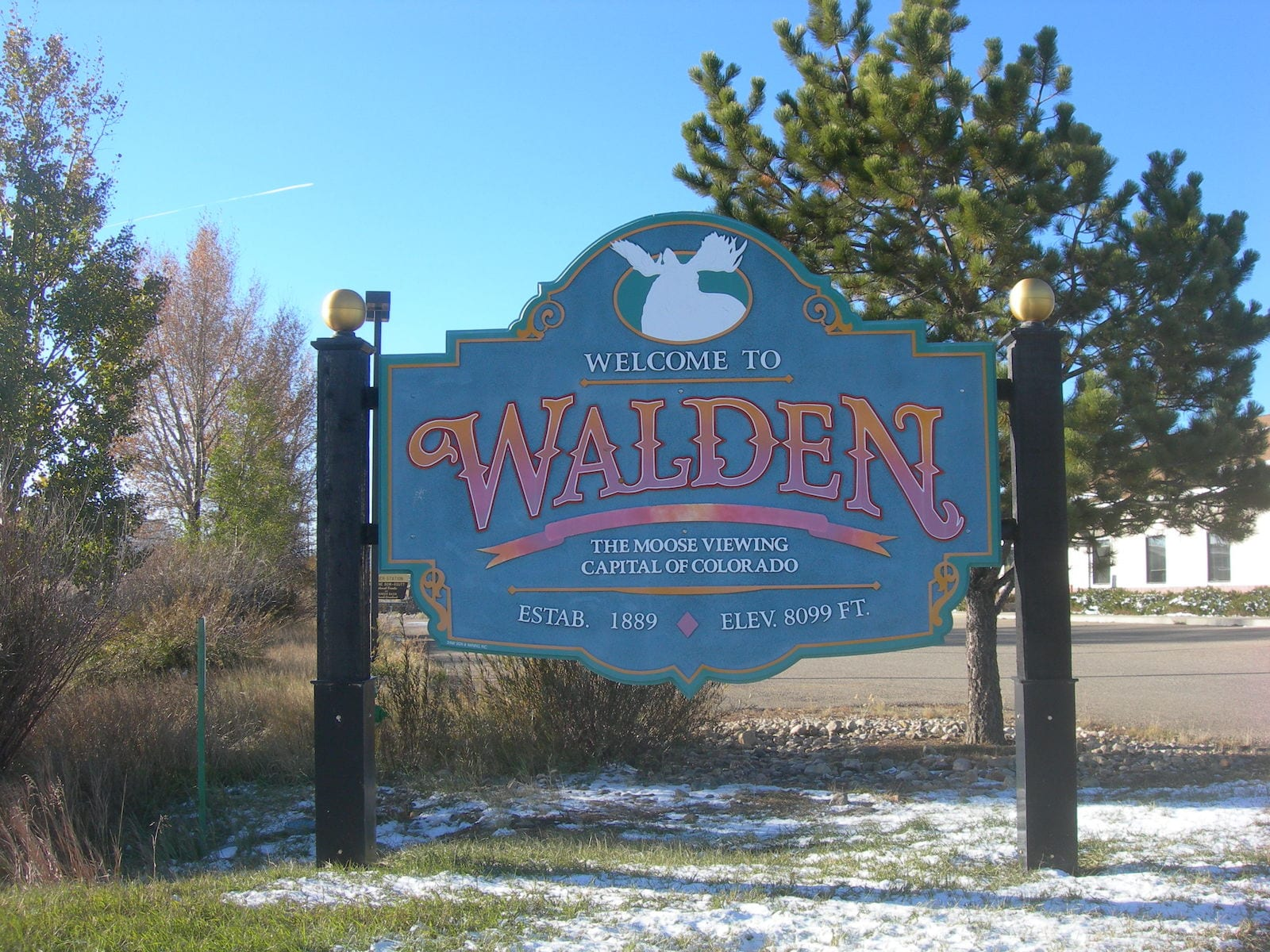 Welcome to Walden Colorado Sign