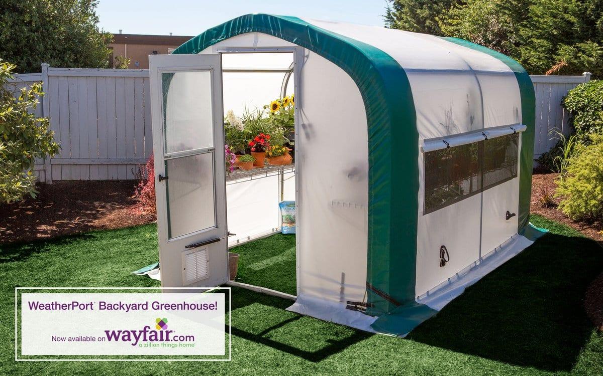 Weatherport Backyard Greenhouse