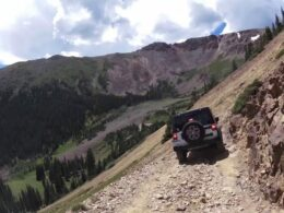 Jeeps Driving Up Webster Pass Colorado