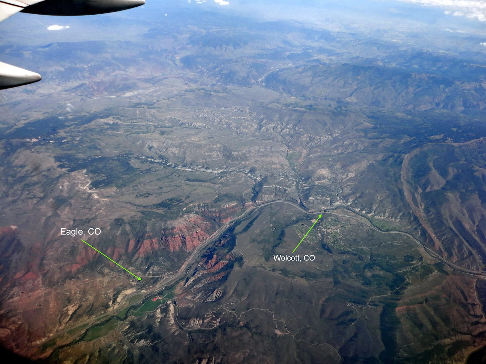 Wolcott and Eagle, CO Aerial View
