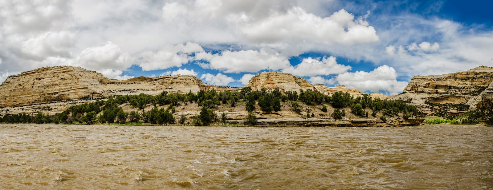 Yampa River Rafting Panorama Harding Hole Overlook in Dinosaur National Monument CO