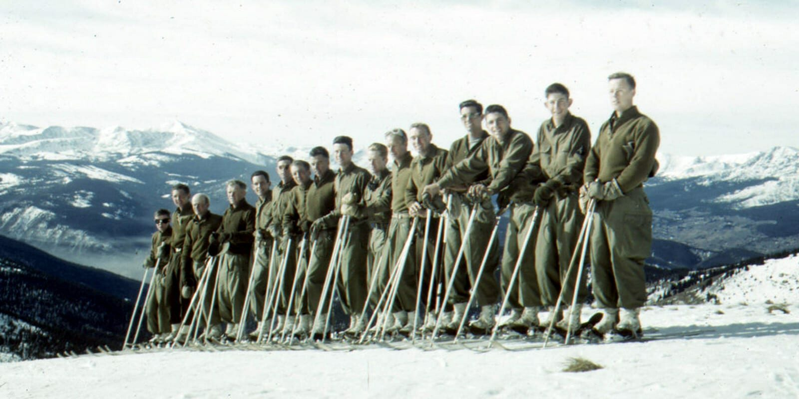10th Mountain Division Ski Troopers Training in Colorado Circa 1943