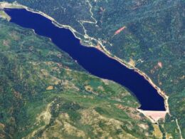 Aerial view of the Lemon Reservoir, CO