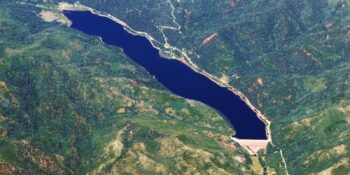 Aerial view of the Lemon Reservoir, CO