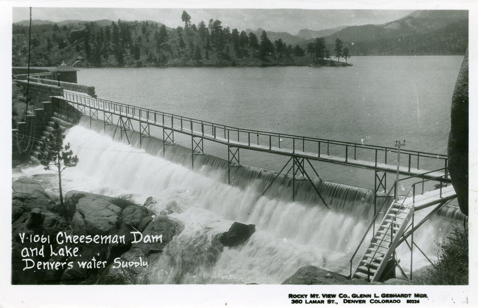 Cheesman Lake and Dam in Deckers, CO, circa 1926
