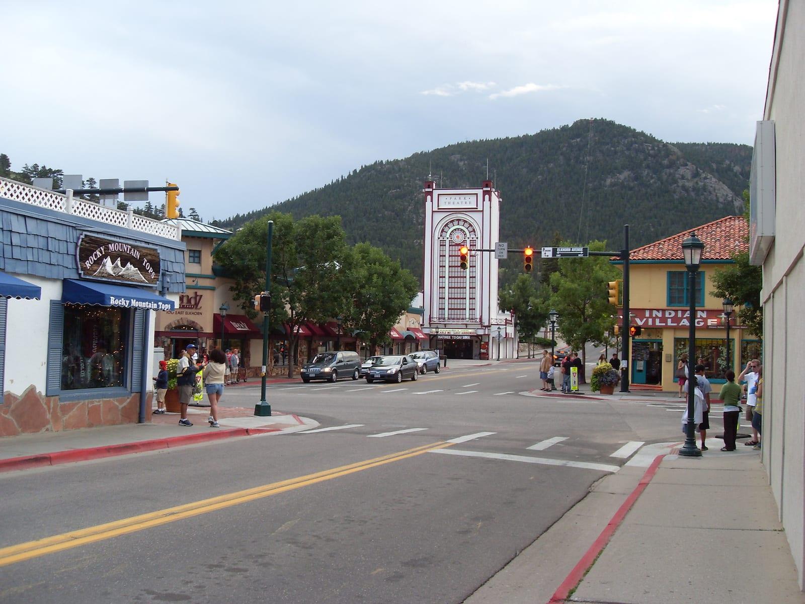 Estes Park city center, CO