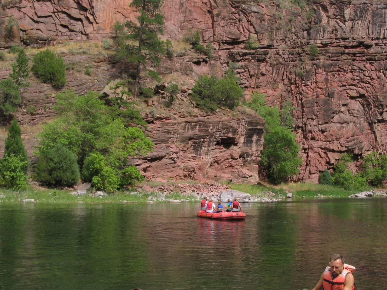 Rafting Green River Near Dutch John, Utah