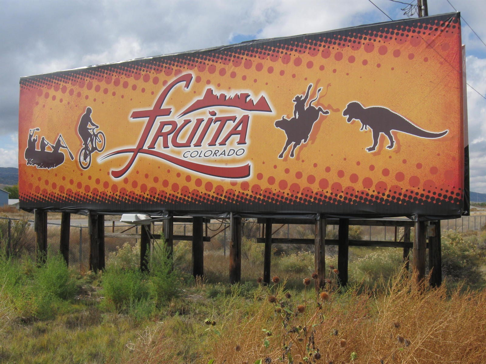 Interstate 70 sign at Fruita exit, CO