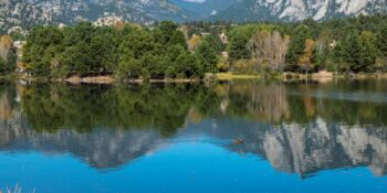 Lake Estes in Estes Park, Colorado