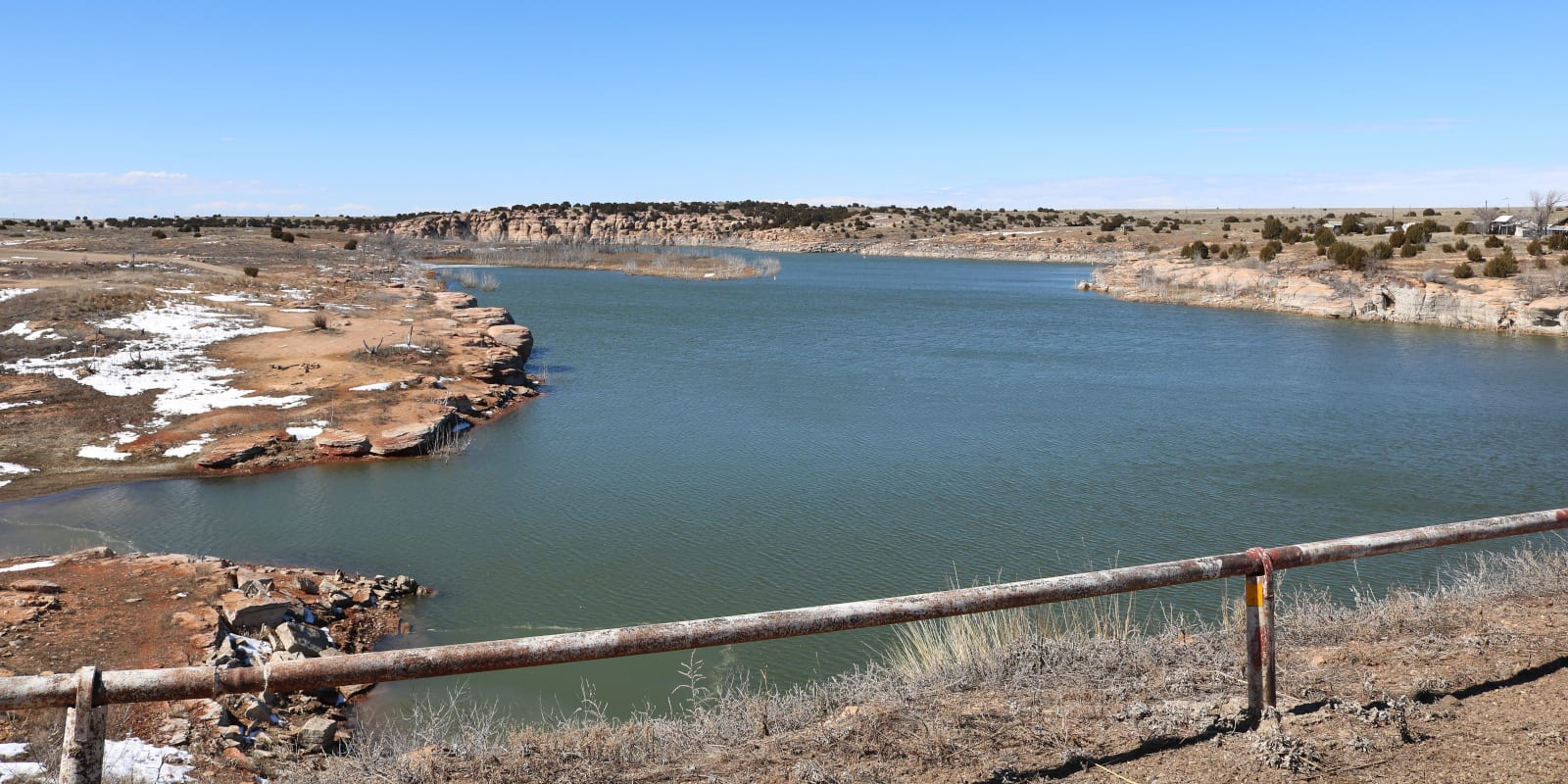 Two Buttes Reservoir in Baca County, Colorado