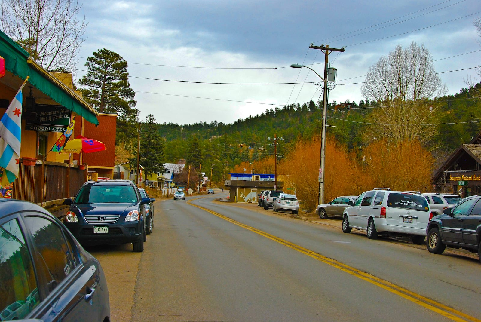 View From Evergreen's Main Street in Colorado