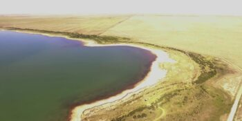 Adobe Creek Reservoir Colorado Aerial View