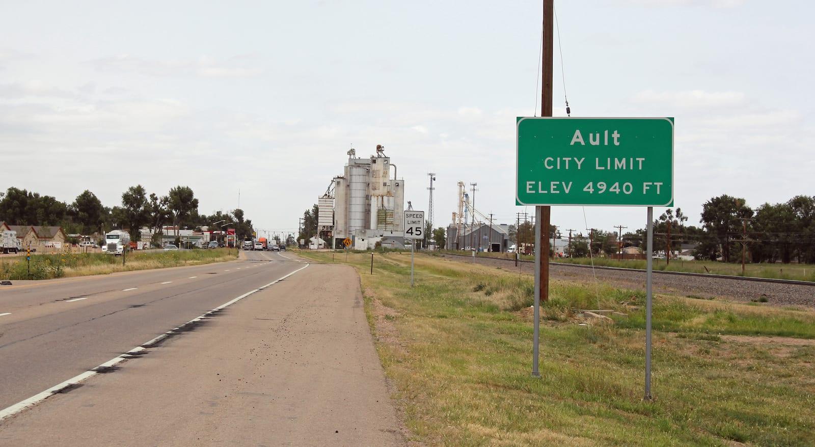 Ault Colorado City Limit Sign