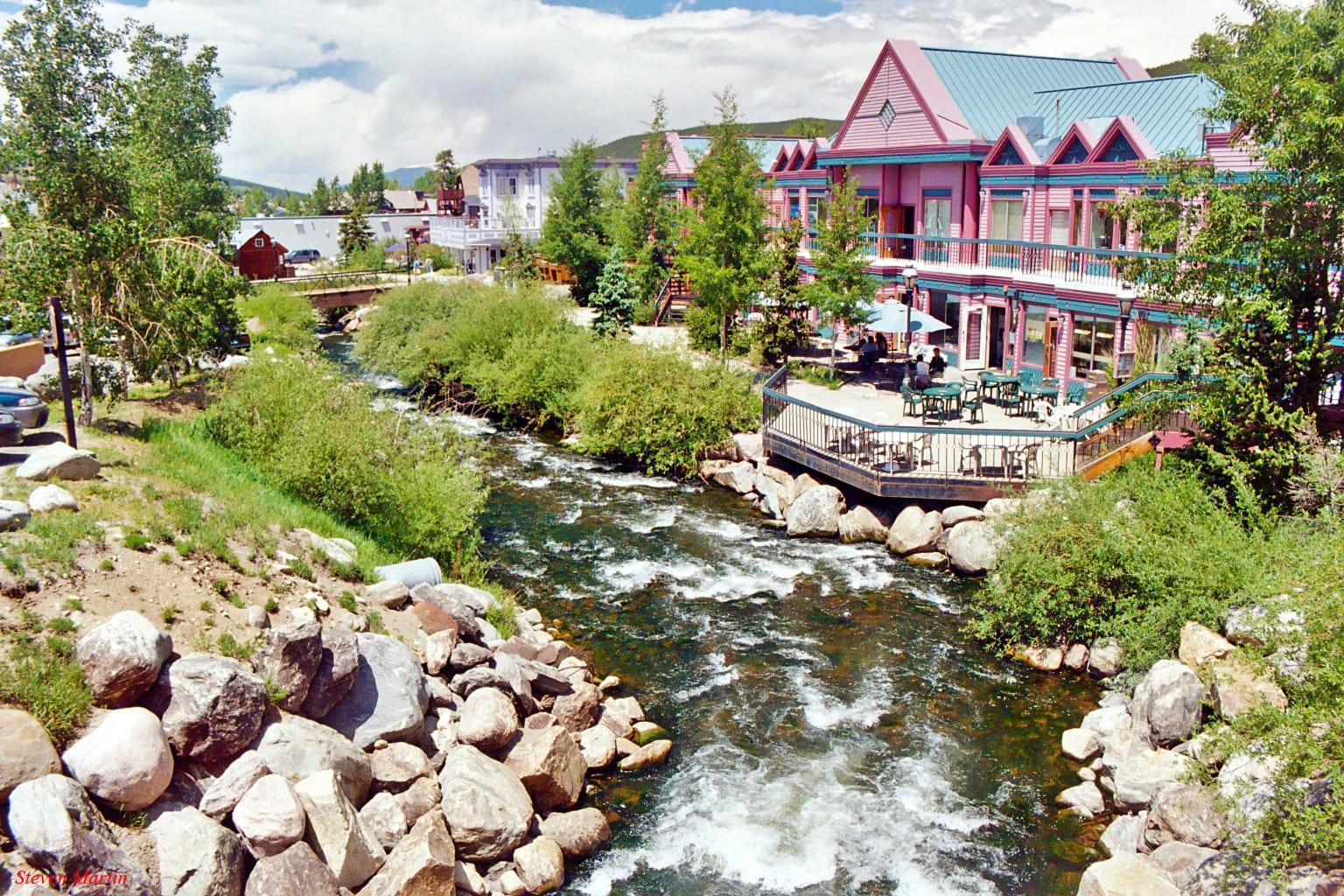 Blue River Downtown Breckenridge CO