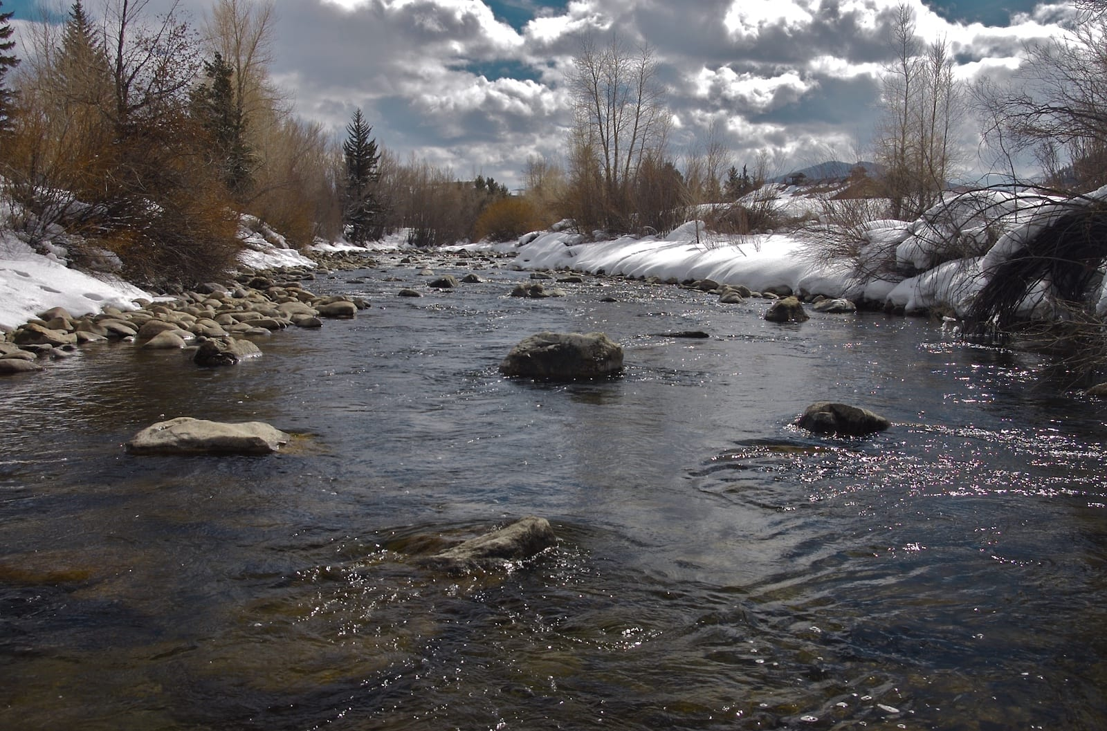 Blue River Winter Silverthorne CO
