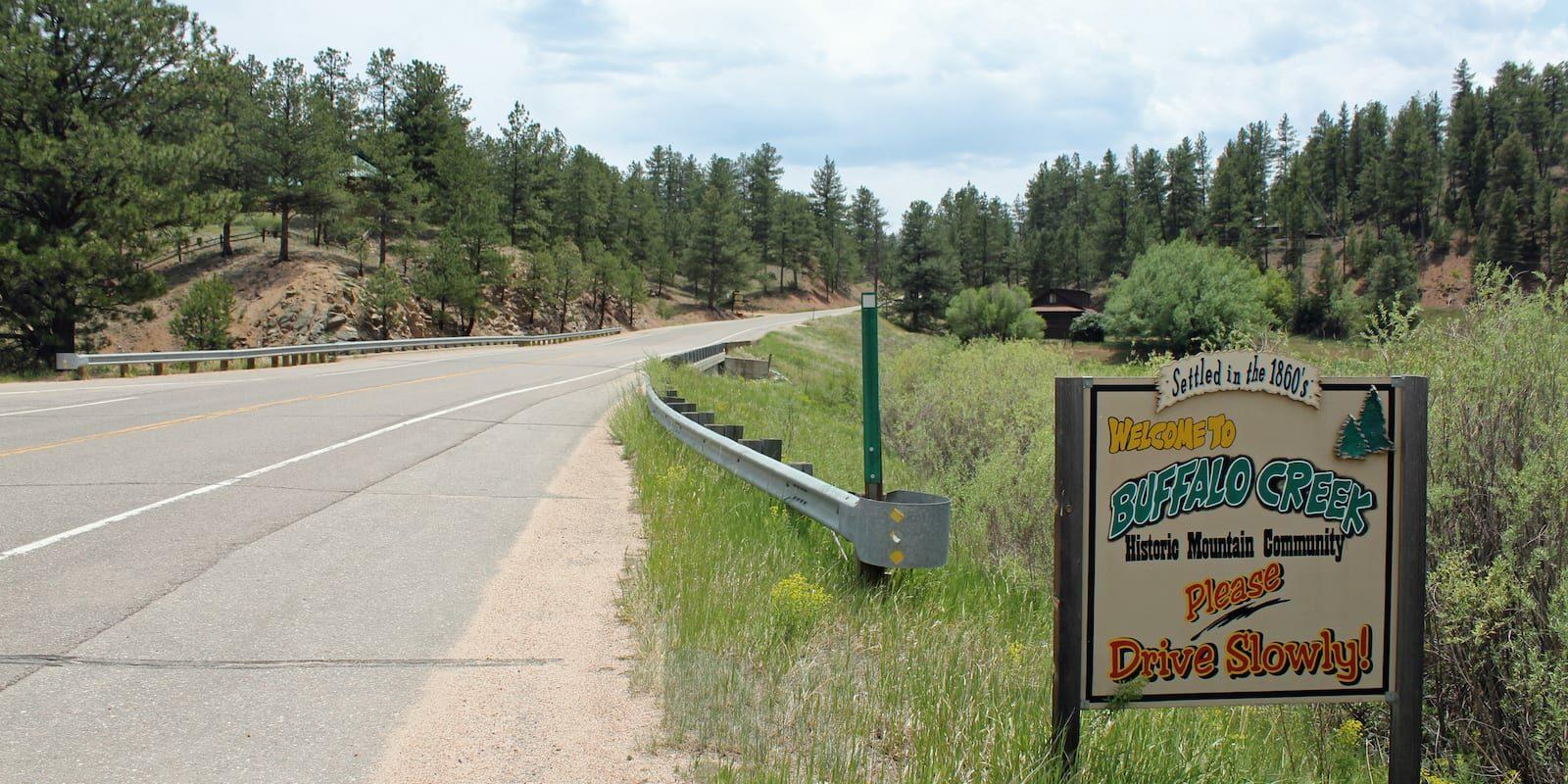 Buffalo Creek Colorado Welcome Sign
