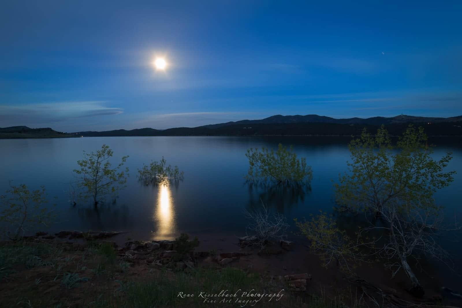 Camping near Carter Lake Berthoud CO Moon Shining