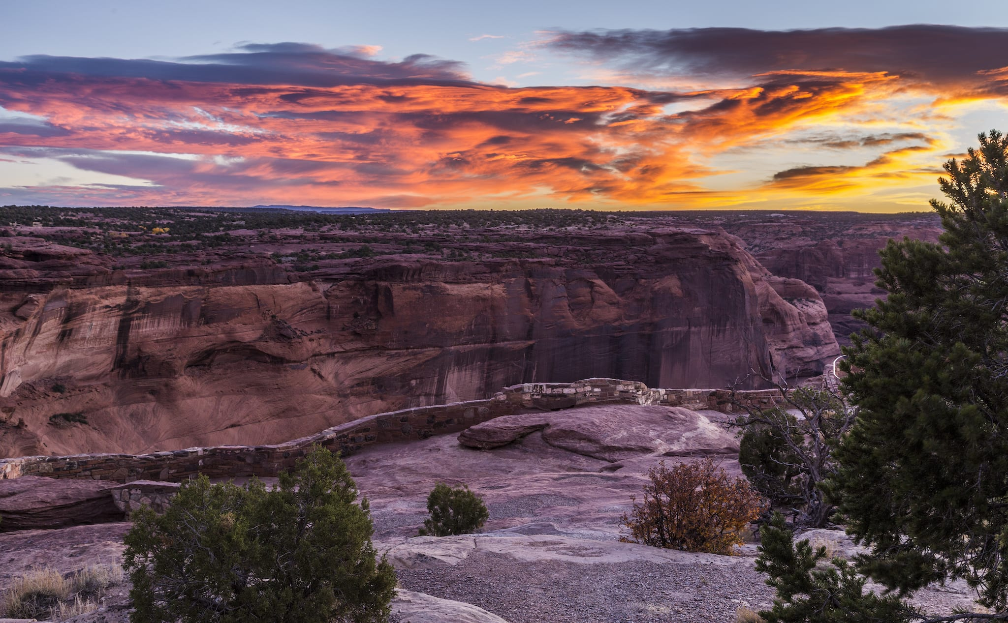 Canyon de Chelly National Monument Sunrise Arizona