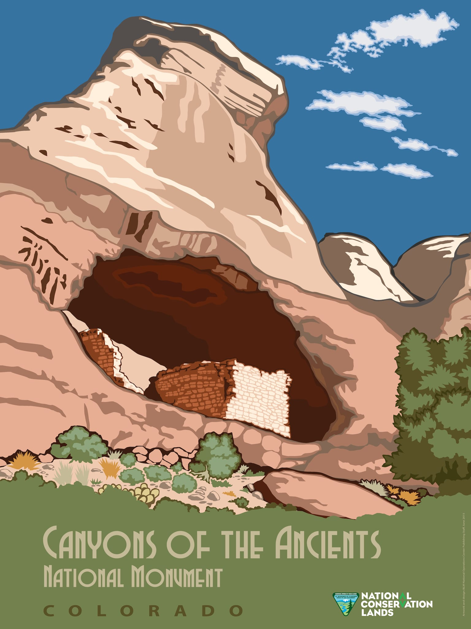 Canyons of the Ancients National Monument Colorado Poster